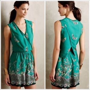 Anthro elevensies butterfly sleeveless romper